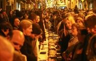 Três dezenas de pastelarias oferecem este sábado à cidade bolo-rei de 120 metros de cumprimento