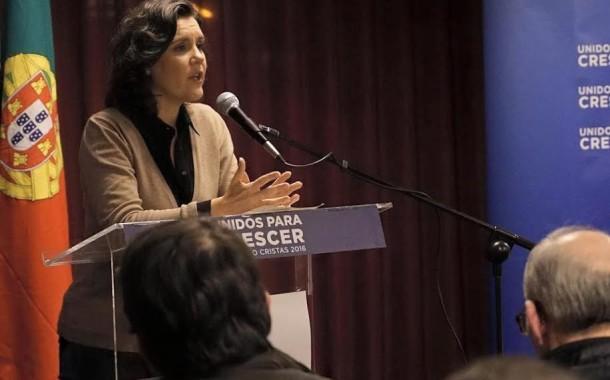 Assunção Cristas, ao lado de Nuno Melo e Altino Bessa, apresenta em Braga mote da candidatura à presidência do CDS/PP