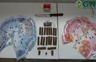 GNR de Vizela deteve homem com duas centenas de doses de haxixe