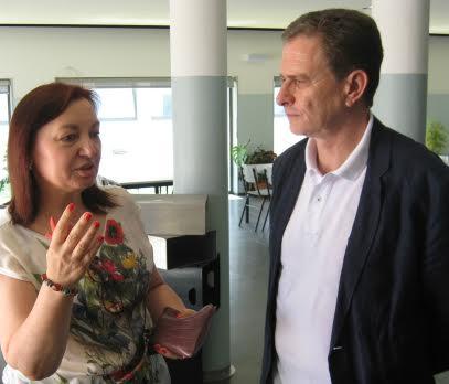 Bloco de Esquerda visita nova unidade de ensino estruturado da Escola Carlos Amarante