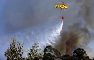Três meios aéreos combatem fogos florestais na Póvoa de Lanhoso e Cabeceiras de Basto