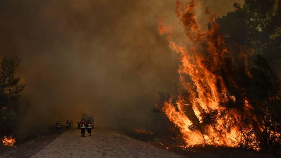 Distrito de Braga recordista em fogos activos; Meio aéreo combate incêndio no Monte Santa Helena, Vila Verde (EM ACTUALIZAÇÃO)