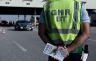 GNR detém em 24 horas 17 condutores com excesso de álcool