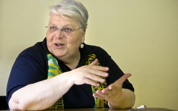 Teóloga Stella Morra na sessão de encerramento do Ano da Misericórdia em Braga