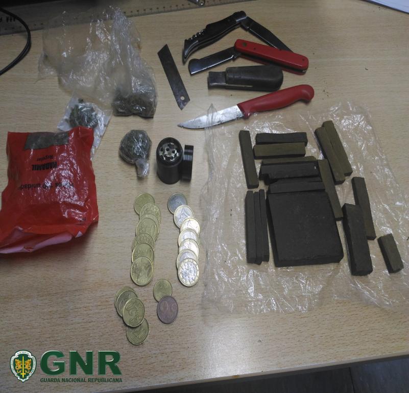 Chamada a intervir em caso de violência doméstica, GNR de Braga dá de 'caras' com suspeito de tráfico de droga