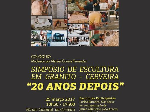 20 anos depois, artistas do Simpósio de Escultura em Granito de Cerveira reencontram-se para falar de escultura contemporânea (20 Mar)