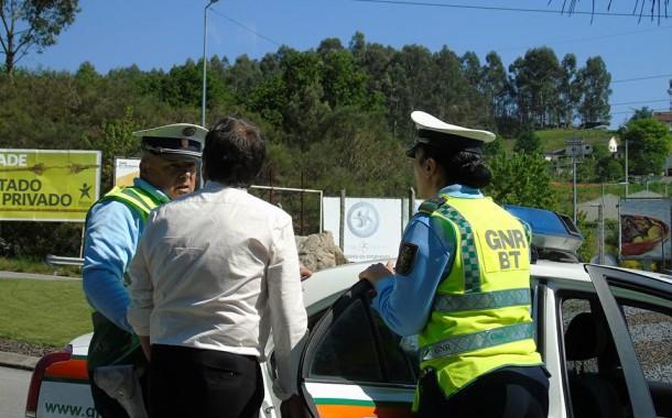 Operação Páscoa da GNR apanha no distrito de Braga álcool a mais e falta de cinto de segurança