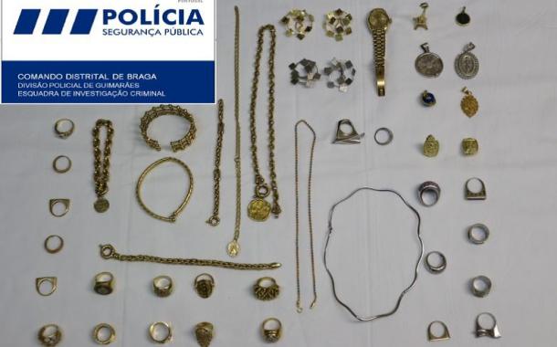 GNR de Guimarães deteve suspeito de furto de 300 mil euros em objectos de ouro