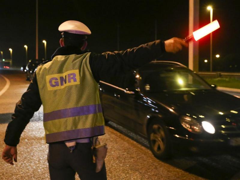 GRN detém 37 condutores com excesso de álcool em 12 horas