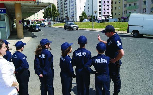 Acção de sensibilização da PSP no evento MEO KIDS CAMP Roteiro 2017