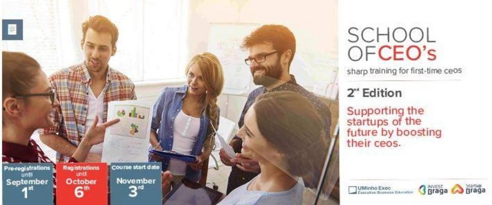 Startup Braga e InvestBraga lançam 2.ª edição da ´School of CEOs´