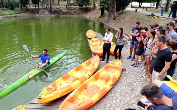 Campeão do Mundo Emanuel Silva dá 'aula' sobre canoagem em Braga