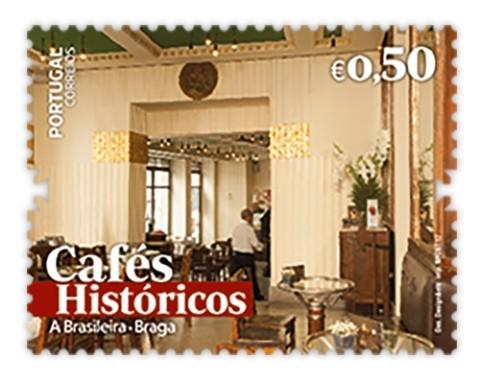 BRAGA: 'A Brasileira' em selo dos cafés históricos dos CTT