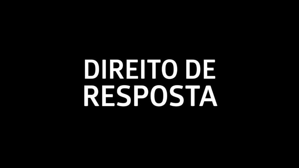 Direito de Resposta de José Morais