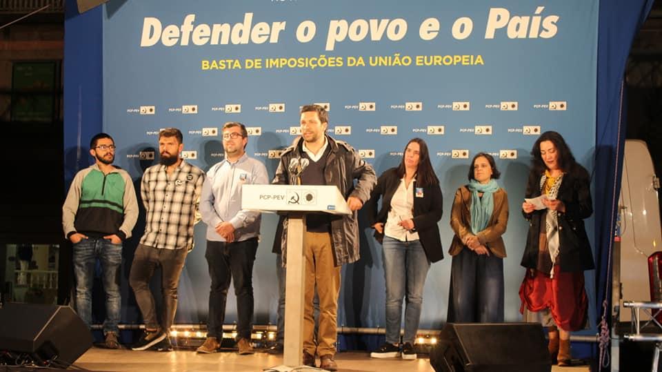 Europeias: João Ferreira (CDU) fecha com comício em Famalicão visita ao distrito de Braga