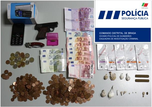 PSP detém suspeito de tráfico de droga no Centro Histórico de Guimarães
