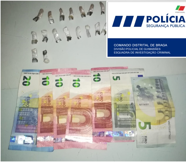 PSP de Guimarães detém suspeito de tráfico de droga