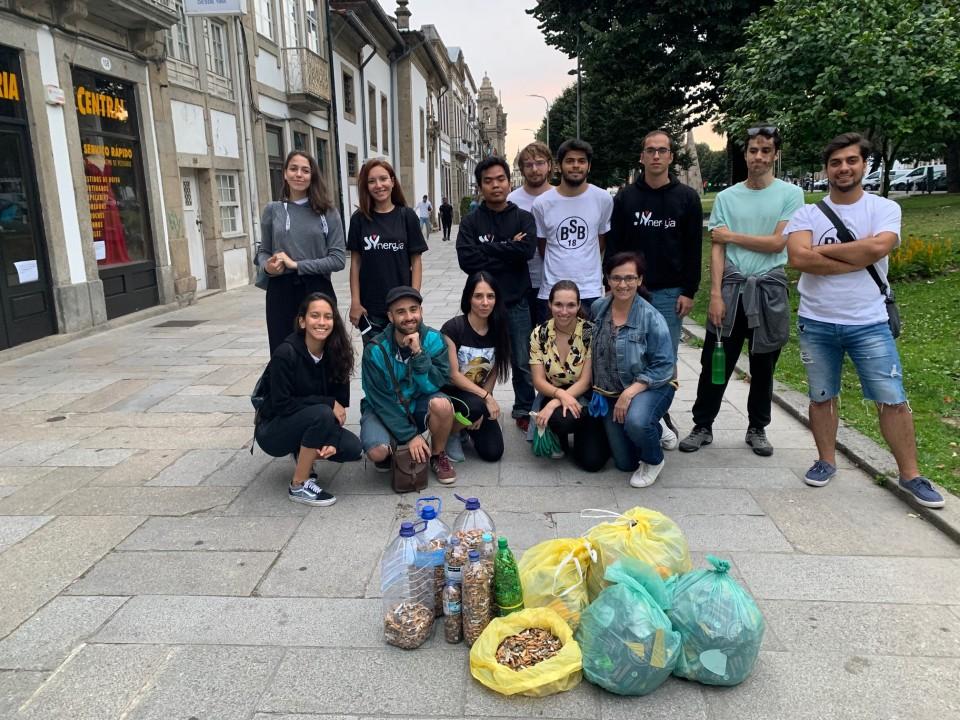 Braga Plogging recolhe 20 mil beatas em duas horas no centro da cidade