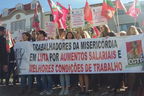 Trabalhadores de Misericórdias em greve ao trabalho extra a partir desta quinta-feira até ao fim do ano