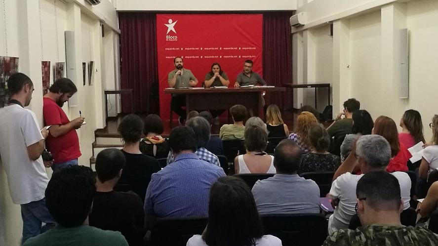 Legislativas: BE apresenta em Braga programa eleitoral com clima, emprego e serviços públicos como prioridades