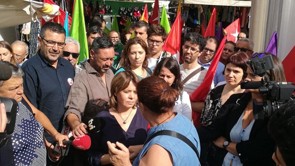 Legislativas: Catarina Martins na feira de Prado para transmitir a mensagem do Bloco de Esquerda