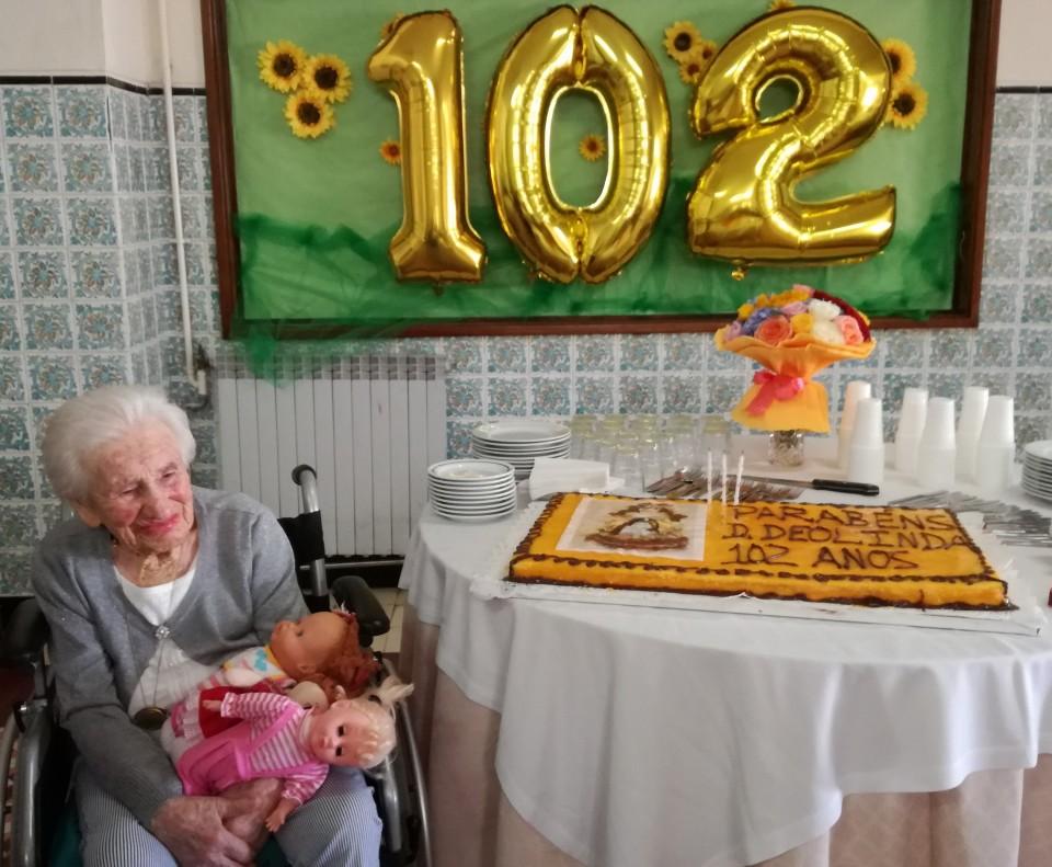 Utente do Lar da Misericórdia de Barcelos celebra 102 anos de idade