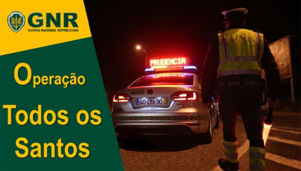 Já está na estrada operação 'Todos os Santos' da GNR