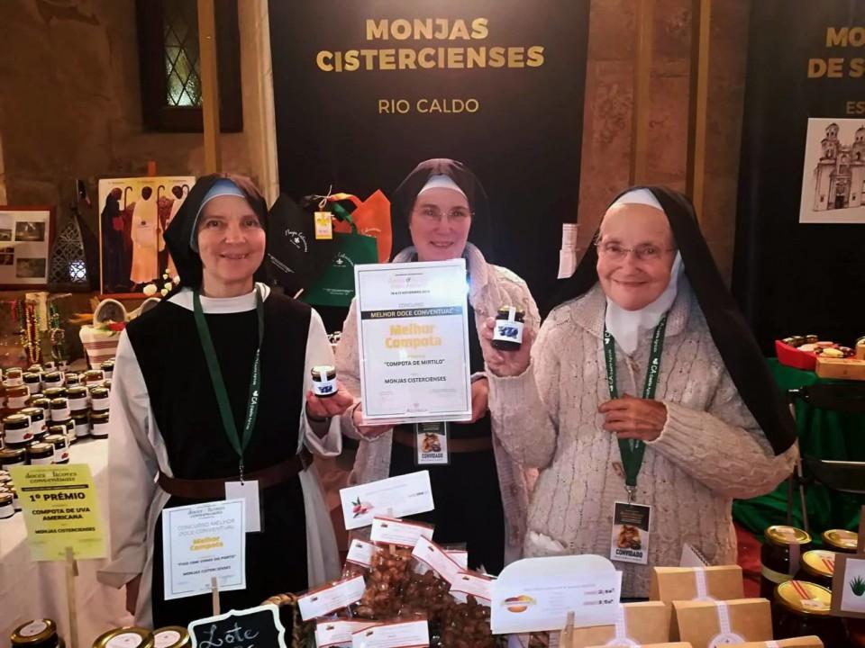 Terras de Bouro. Monjas Cistercienses de Rio Caldo arrecadaram 1.º prémio de melhor compota em Alcobaça