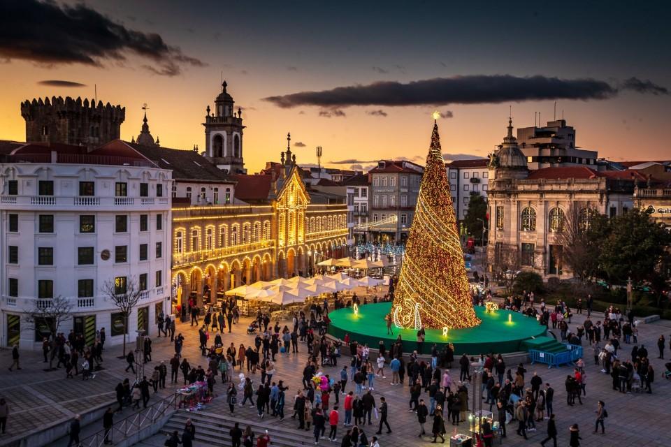 Decorações de Natal de Braga em votação para melhor do país