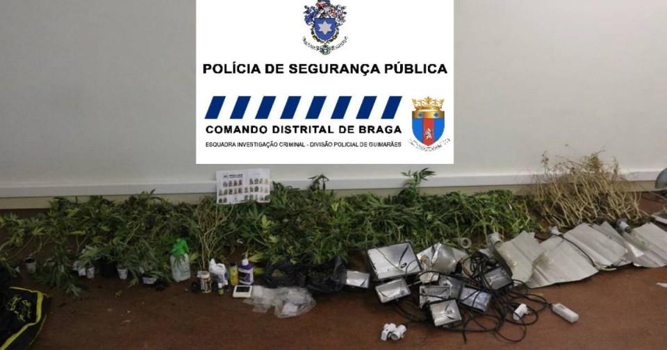 Fogo em casa tramou traficante de droga, em Guimarães