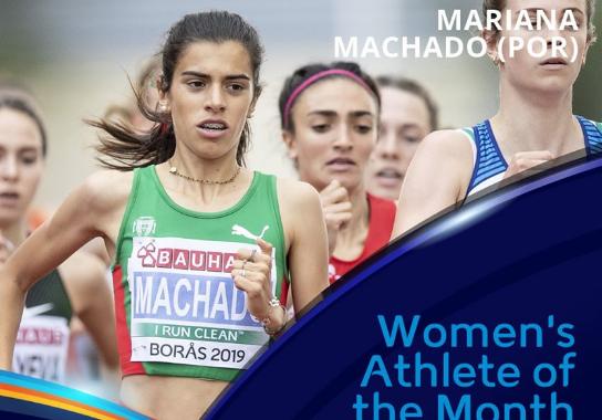 Mariana Machado eleita Atleta do Mês de Novembro pela European Athletics
