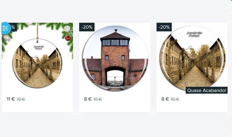 Amazon vende enfeites de Natal com imagens de campo de concentração de Auschwitz