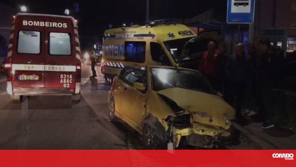 Choque entre carro e ambulância do INEM faz dois feridos em Famalicão