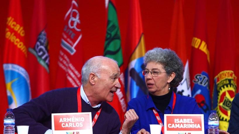 Isabel Camarinha chega a líder da CGTP. António Costa propõe a Marcelo condecoração para Arménio