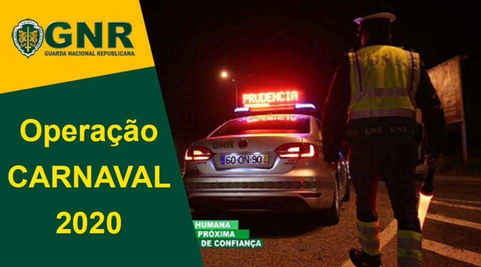 Operação Carnaval 2020 da GNR arranca este sábado e termina dia 25