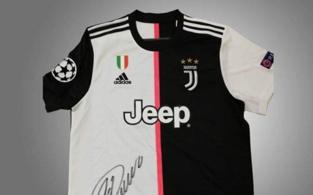 Cruz Vermelha de Braga licita t-shirt da Juventus autografada por Cristiano Ronaldo