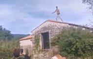 Jovem salta de telhado para poço em Afife e parte pés e braços (c/vídeo)