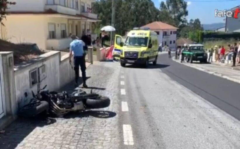 Motociclista morre em Fafe depois de despistar-se e embater num poste (c/vídeo)
