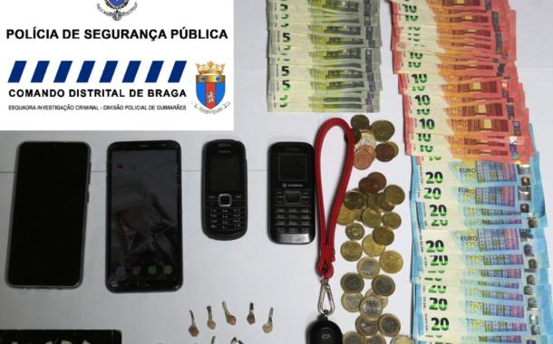 PSP detém casal suspeito de tráfico de estupefacientes em Guimarães