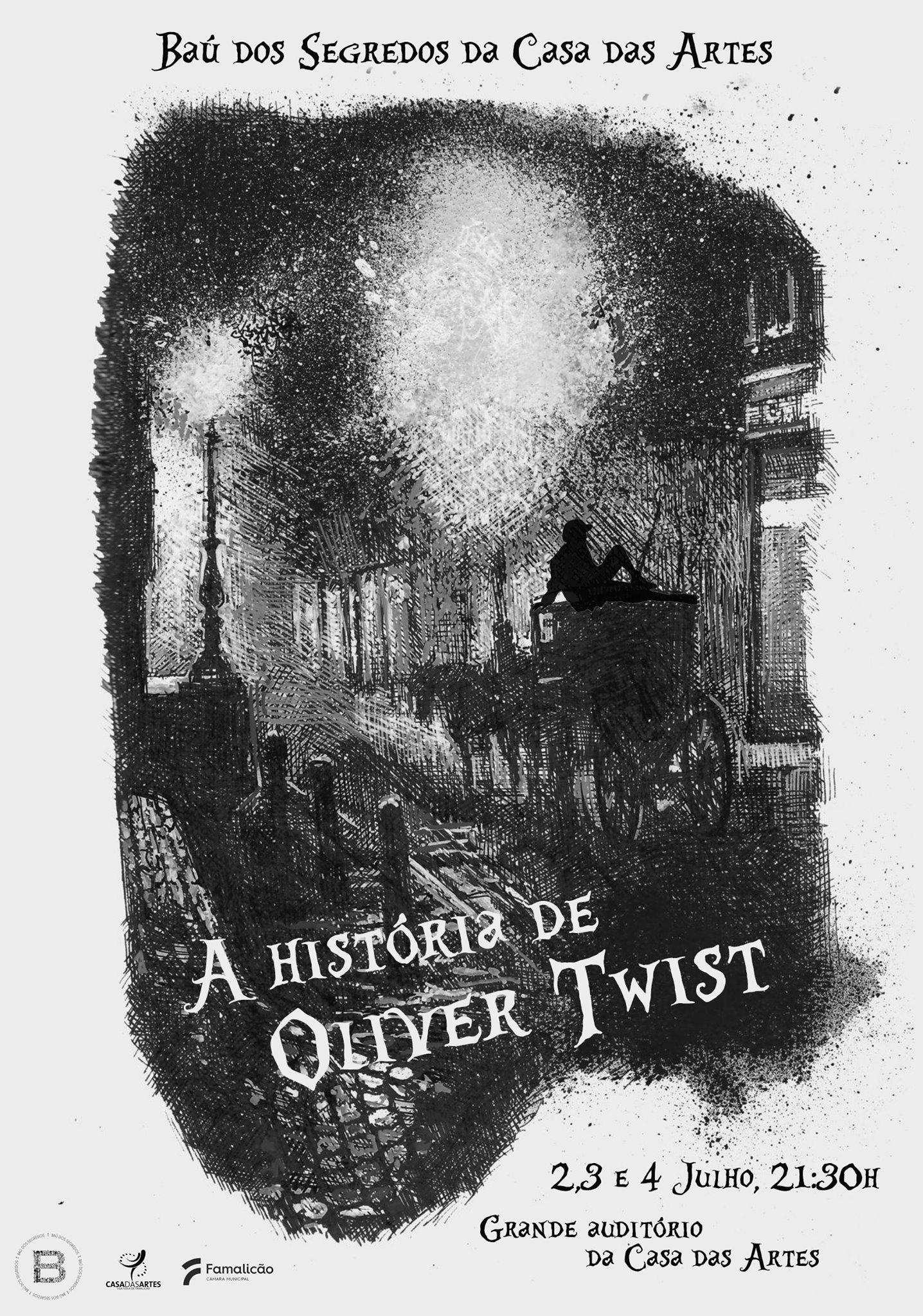 Famalicão. 'Oliver Twist' da companhia teatral Baú dos Segredos abre Casa das Artes (2,3 e 4 JUL)