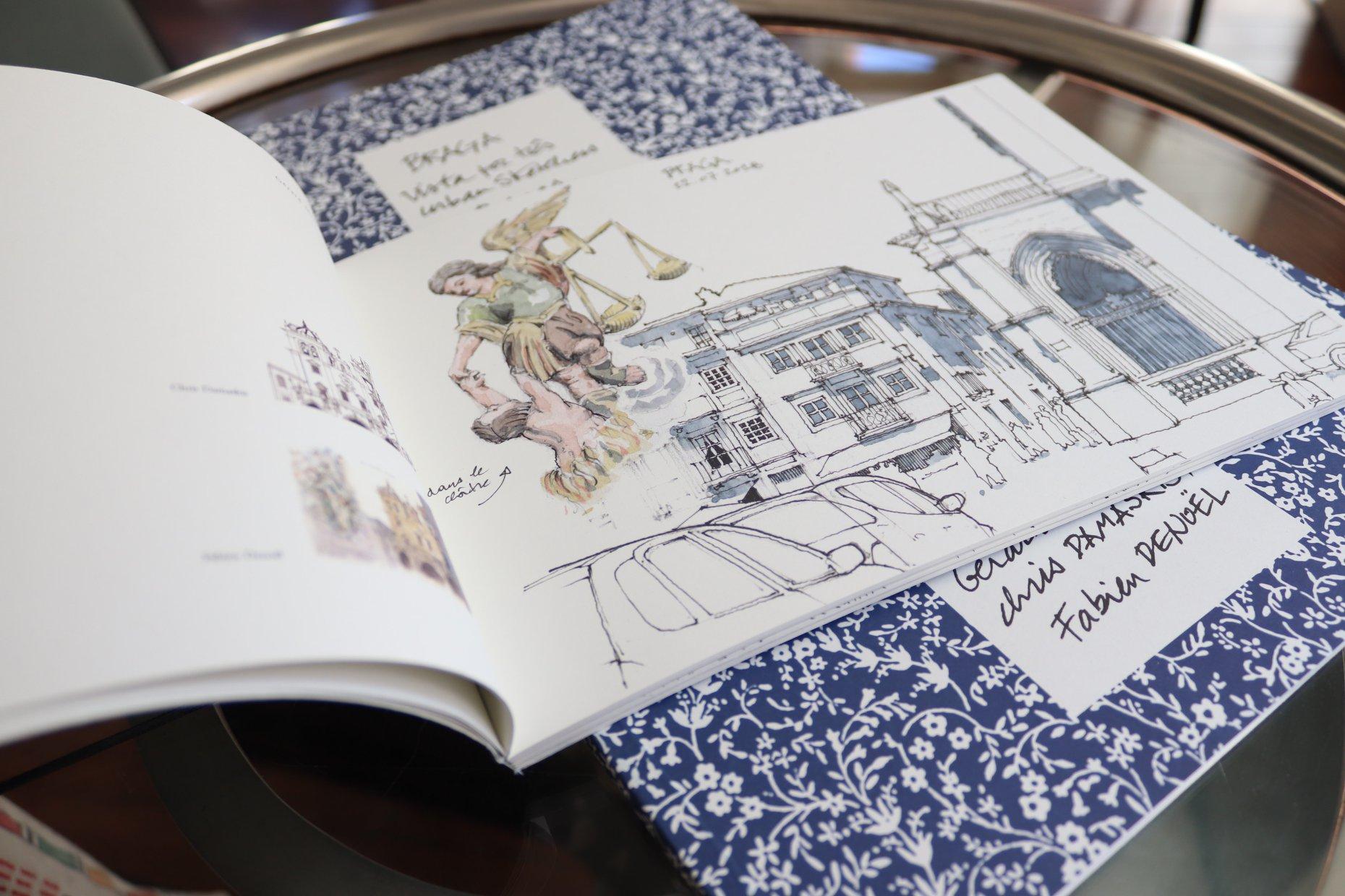 Fundação Bracara Augusta apresenta 'Braga vista por três urban sketchers belgas'