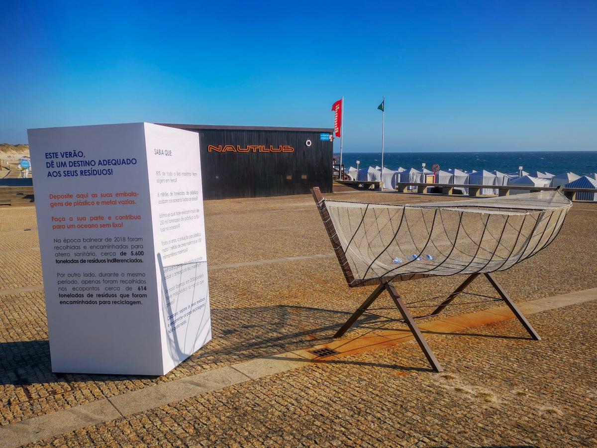 Esposende. Praia de Apúlia recebe 'barco' que incentiva à separação de resíduos na época balnear