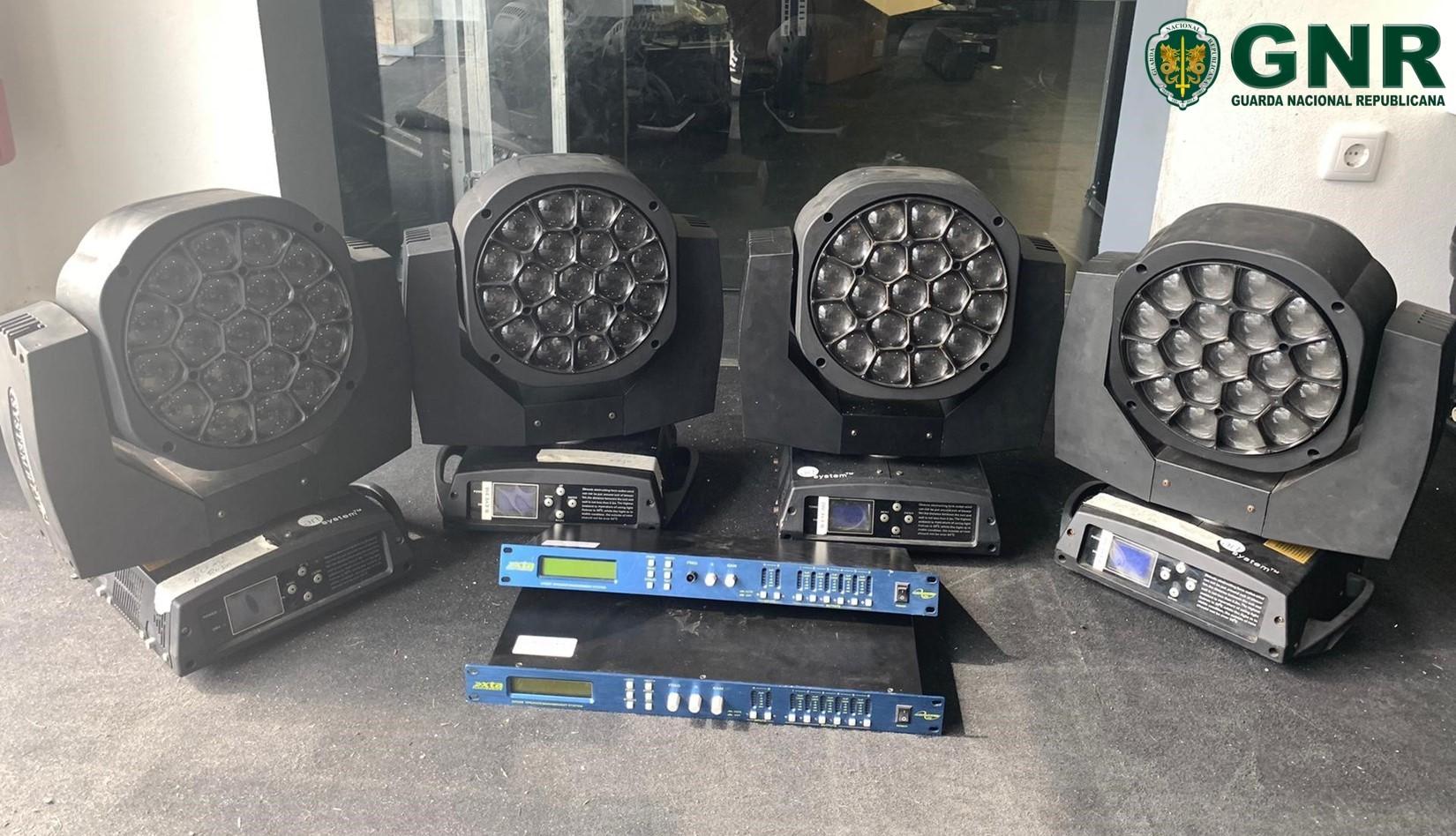 GNR recupera equipamentos de luz e som em Famalicão