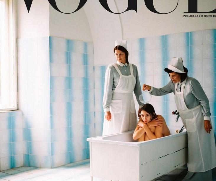 Sara Sampaio arrasa capa polémica da Vogue Portugal (c/vídeo)