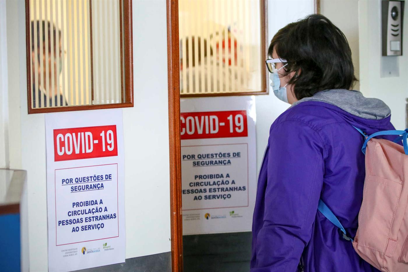 Portugal com mais quatro mortes e 186 novos casos de covid-19