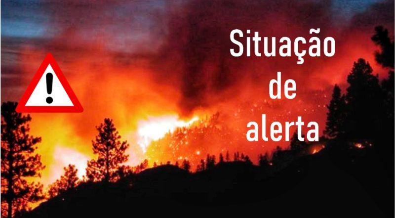 Alerta de incêndio prolongado até ao final de domingo em todo Continente. Minho com aviso laranja