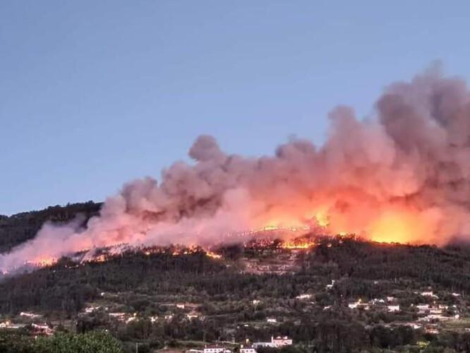 PJ deteve quatro suspeitos de causar incêndio que consumiu 400 hectares em Ponte de Lima