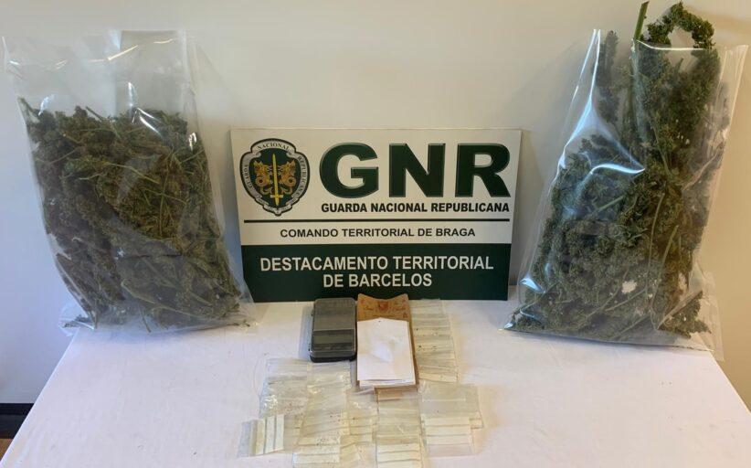 Cadastrado detido por tráfico de droga em Barcelos