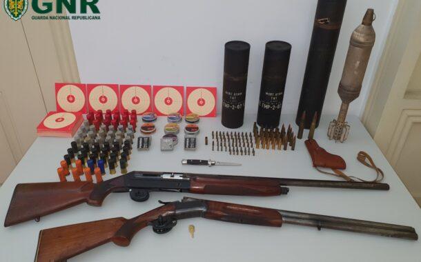 GNR captura arsenal de armas proibidas em Fafe