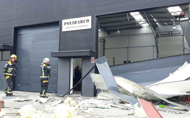 Chamas destroem parte de fábrica de polimentos em Guimarães